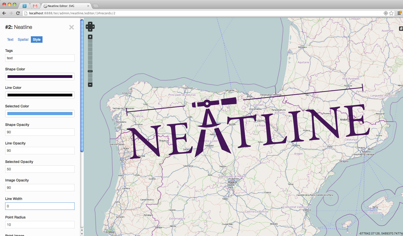 Neatline screenshot
